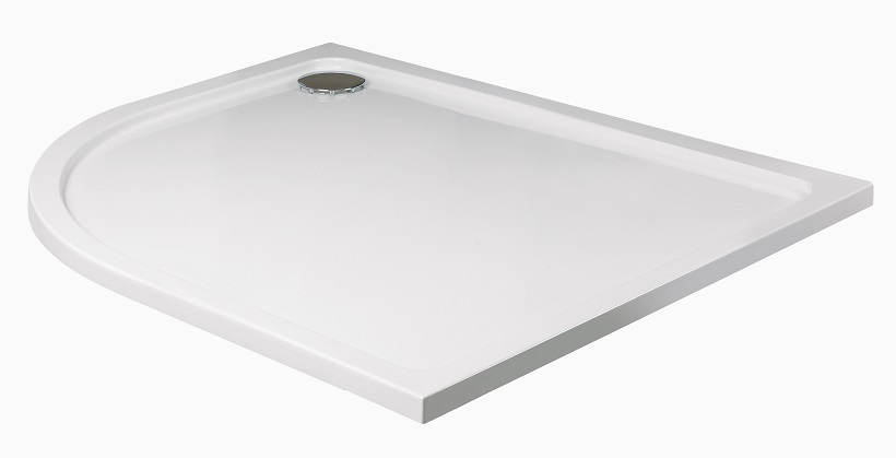 Slimline 1200 x 800 Offset Quadrant Shower Tray LH