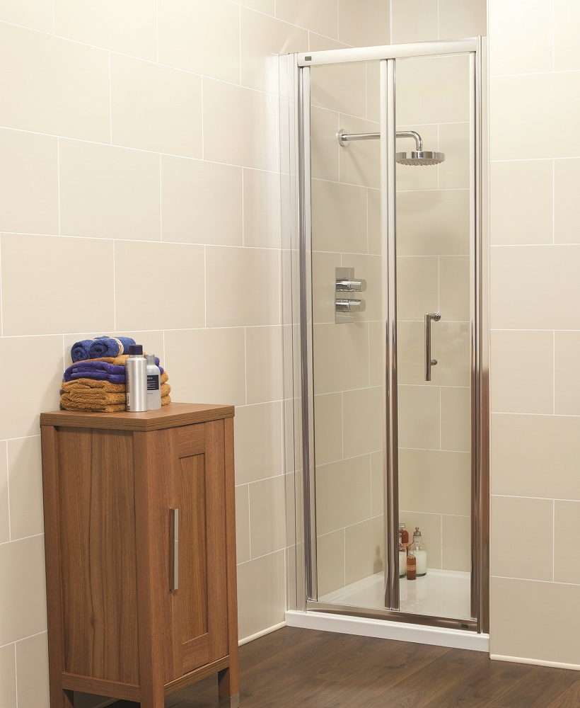 Kyra Range 850 Bifold Shower Door - Adjustment 800-860mm