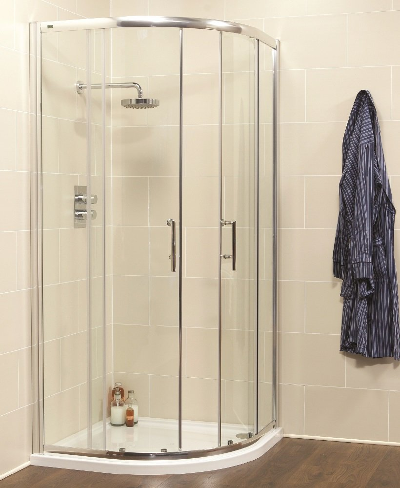 Kyra Range 900 Two Door Quadrant Shower Enclosure - Adjustment 855mm-880mm