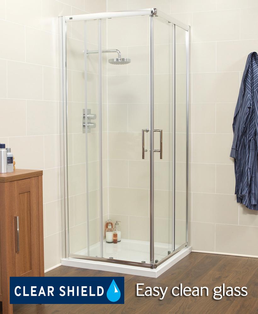 Kyra Range 800 Corner Entry Shower Enclosure - Adjustment 755 -780mm