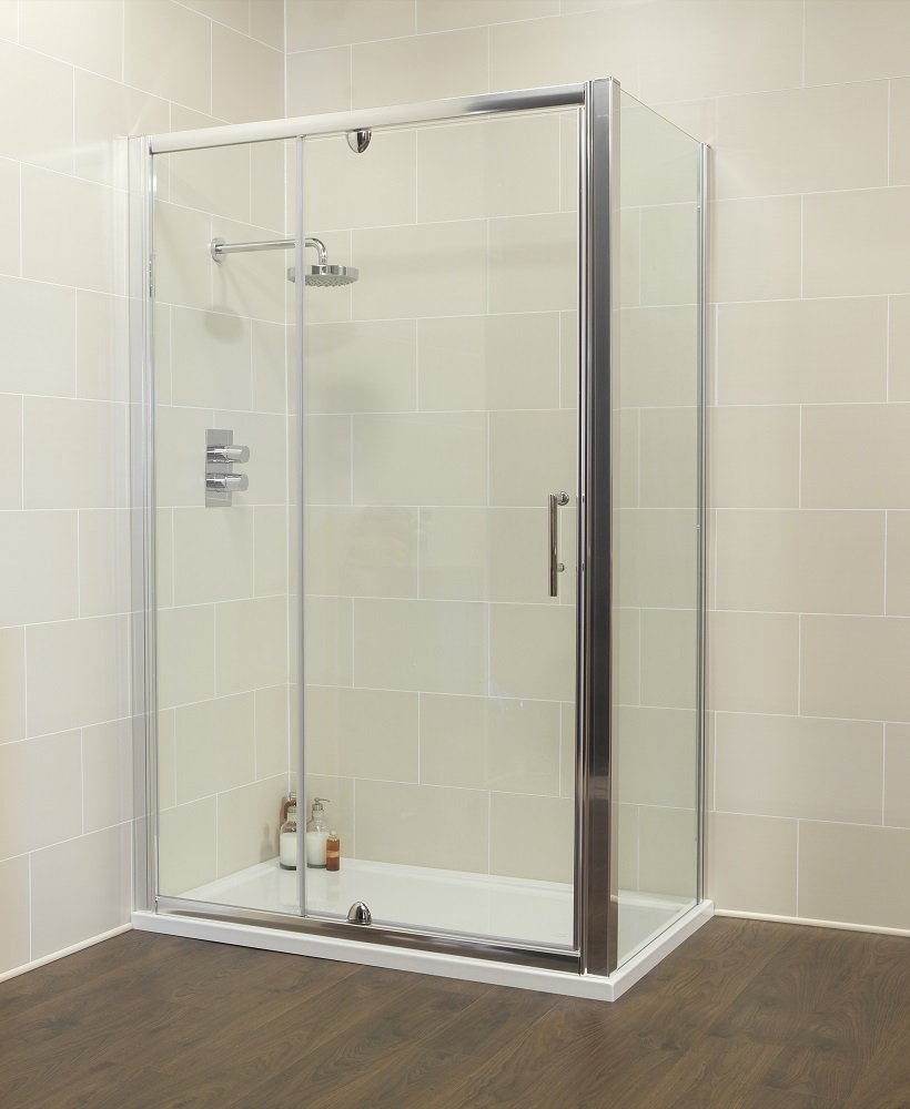 Kyra 1000 x 760mm Pivot & Inline Shower Door