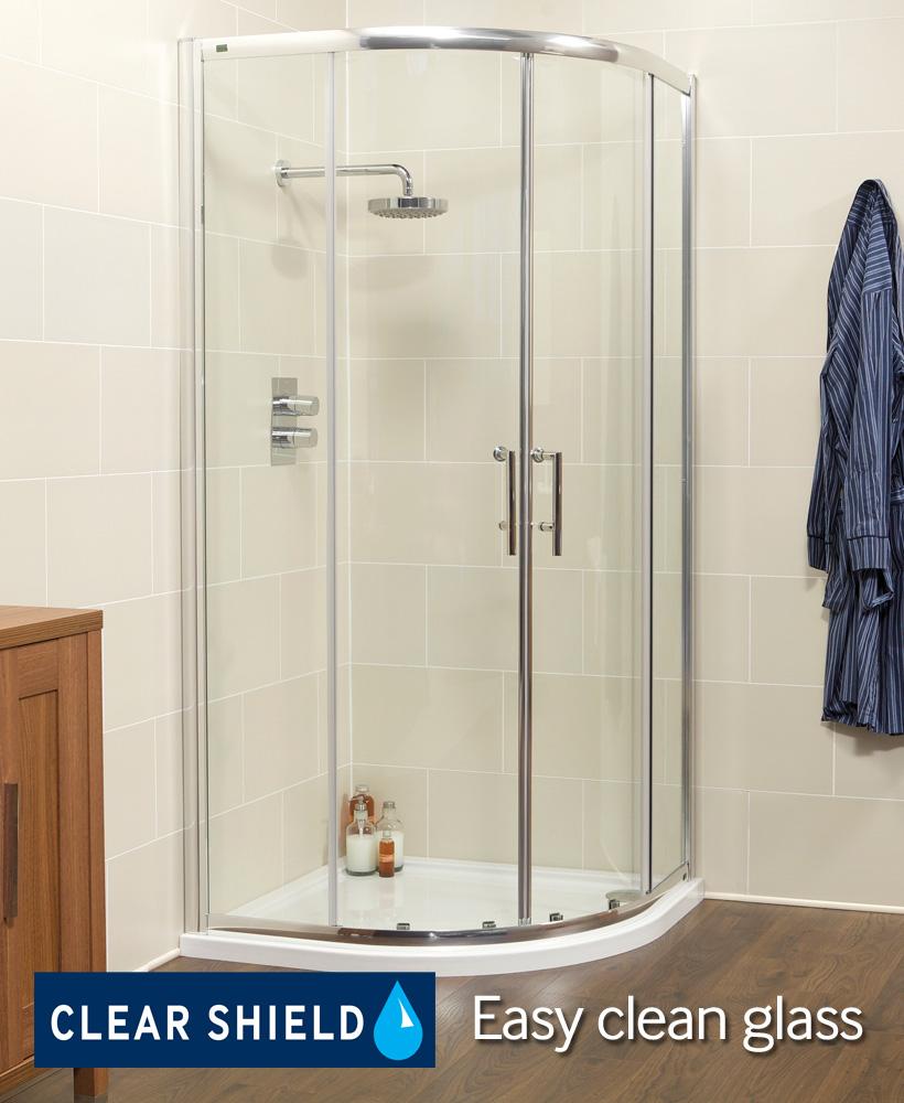 Kyra Range 800 Two Door Quadrant Shower Enclosure - Adjustment 755-780mm