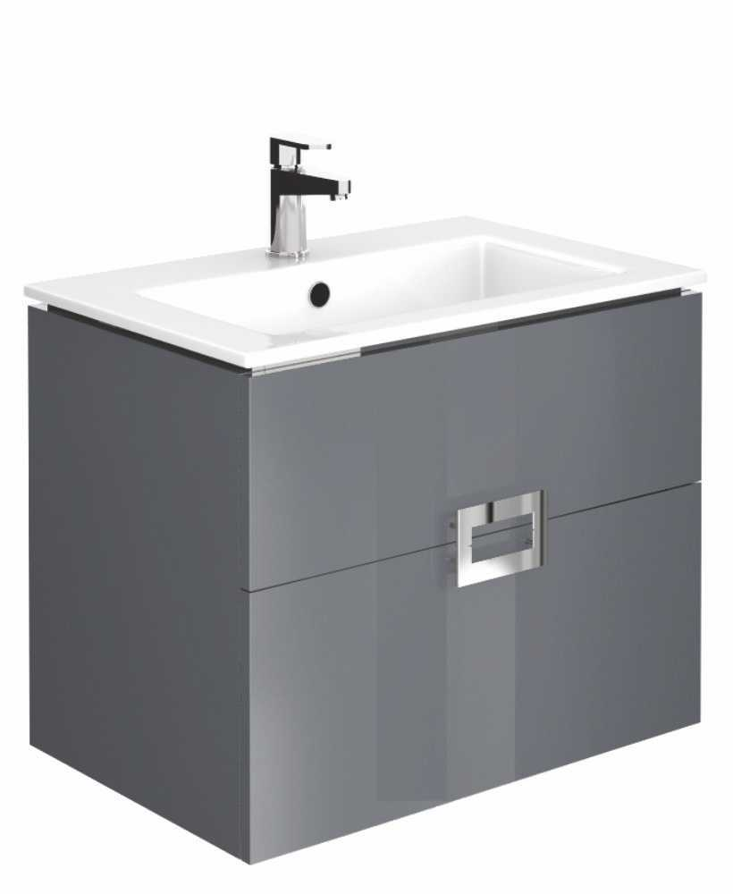 Ava Anthracite 65 cm Wall Hung Vanity Unit and Basin
