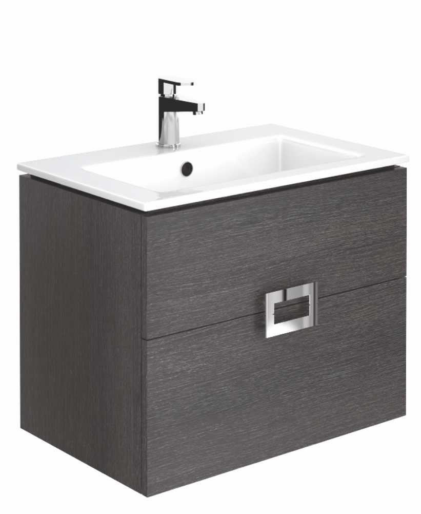 Ava Dark Wood 55 cm Wall Hung Vanity Unit and Basin ** Further Reductions**
