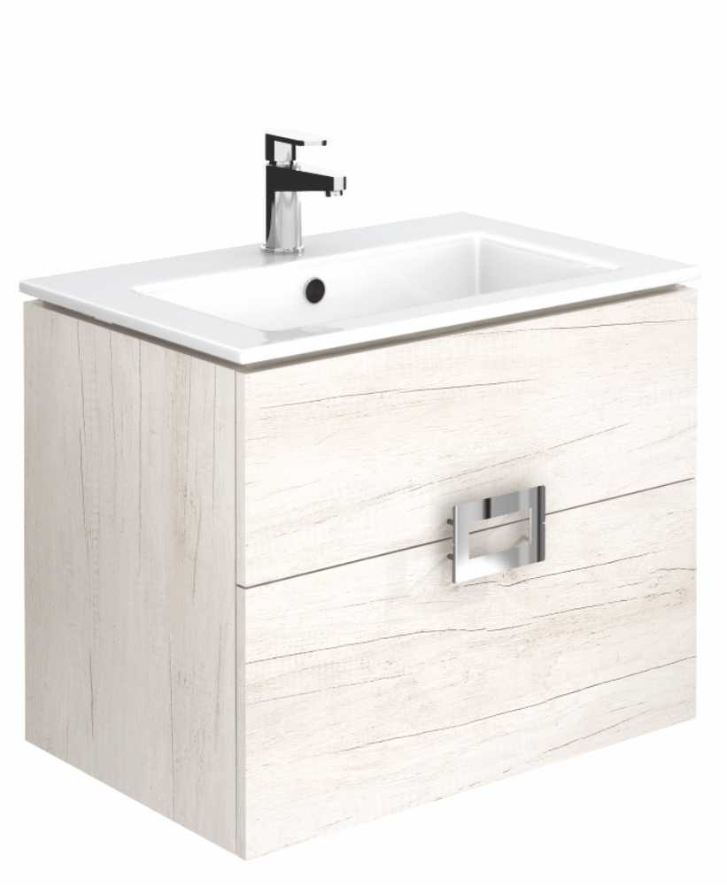 Ava Light Wood 65 cm Wall Hung Vanity Unit and Basin ** Further Reductions**