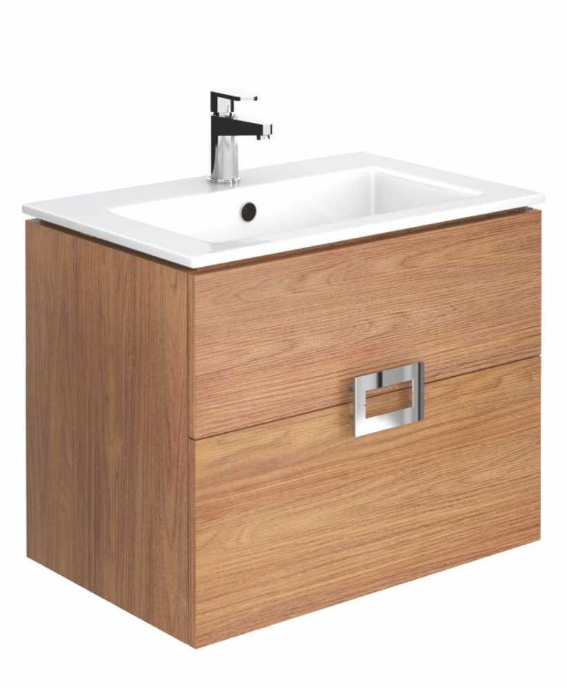 Ava Walnut 55 cm Wall Hung Vanity Unit and Basin ** Further Reductions**