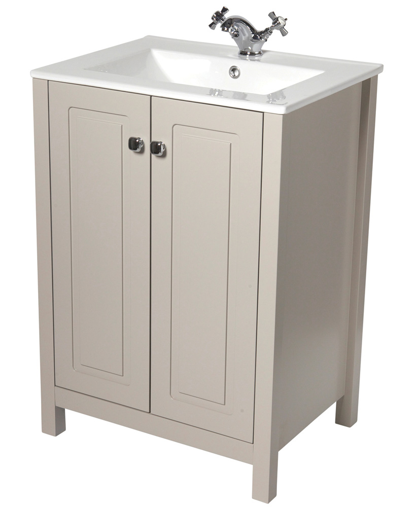 Ashbury Traditional 60cm Stone Vanity Unit & Totano Basin