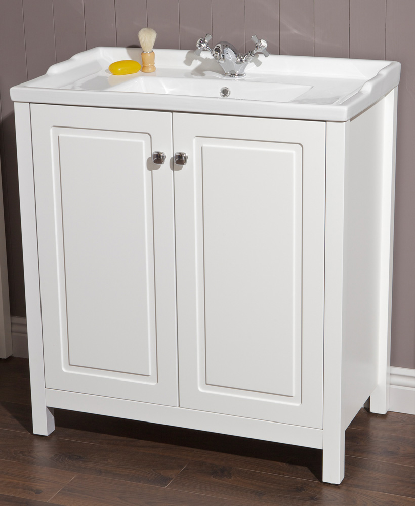 Ashbury Traditional 80 Chalk White Vanity Unit & Vitaria Basin