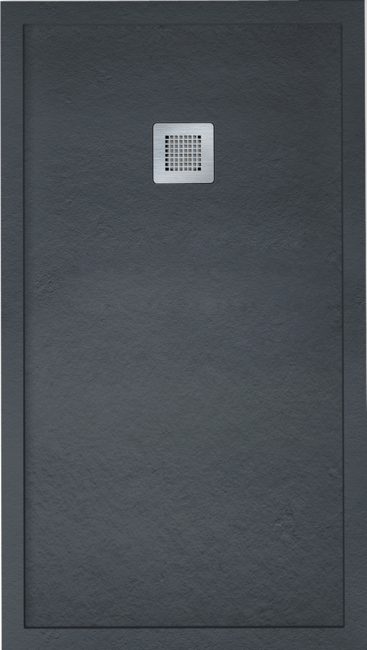 IMPACT 1000 x 800 Shower Tray Anthracite - FREE shower waste