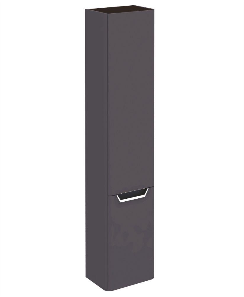 Metz Anthracite 35 cm Wall Column - Left Hand Hinge