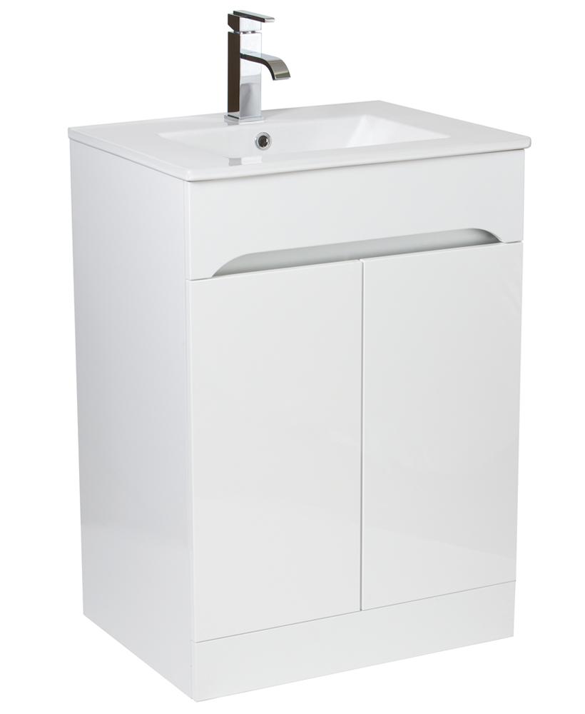 Merida 60cm White Vanity Unit & Basin