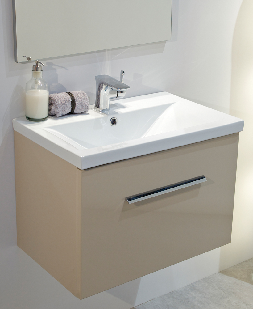 Vanore Cappuccino Slimline 50cm Wall Hung Vanity Unit  ** Further Reductions**