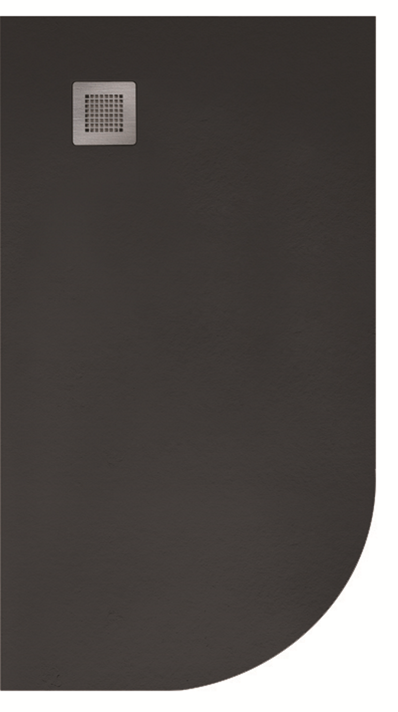 Slate 1200X800 Offset Quadrant Shower Tray LH Black - with FREE Waste
