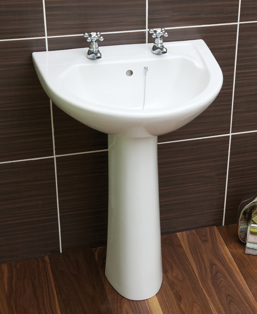 Twyford Option Basin 55cm  & Pedestal (2TH)