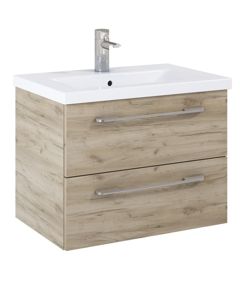 Soho Plus 60cm Craft Oak Vanity Unit with Basin