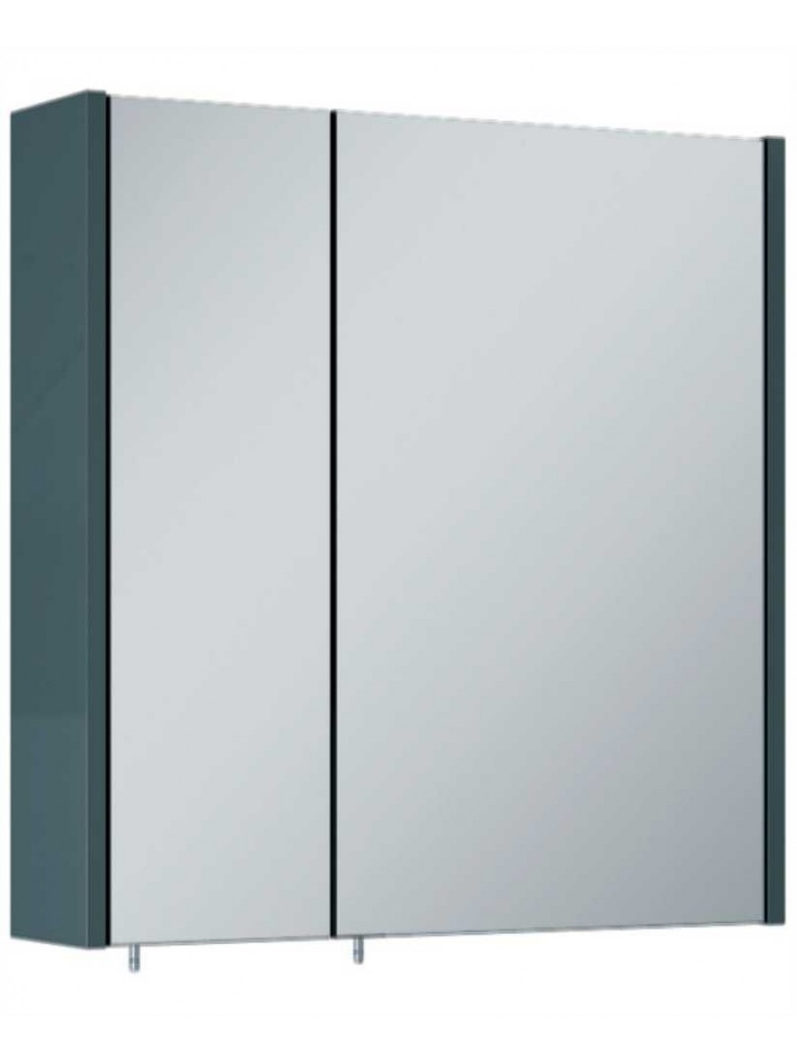 Soho Plus 60 cm Gloss Grey 2 Doors Mirror Cabinet