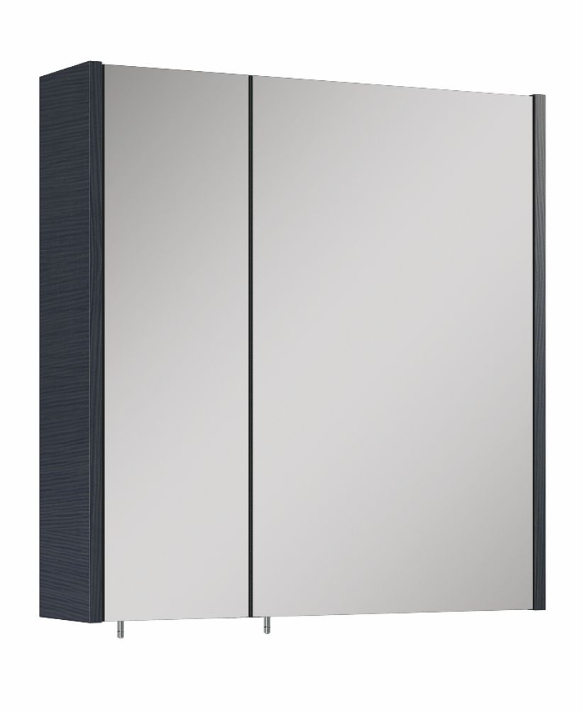 Soho Plus 60 cm Grey 2 Doors Mirror Cabinet