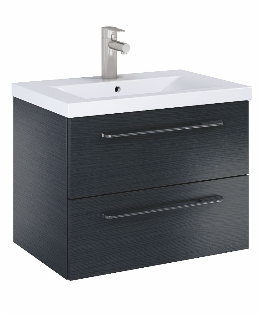 Soho Plus 60cm Grey Vanity Unit with Basin