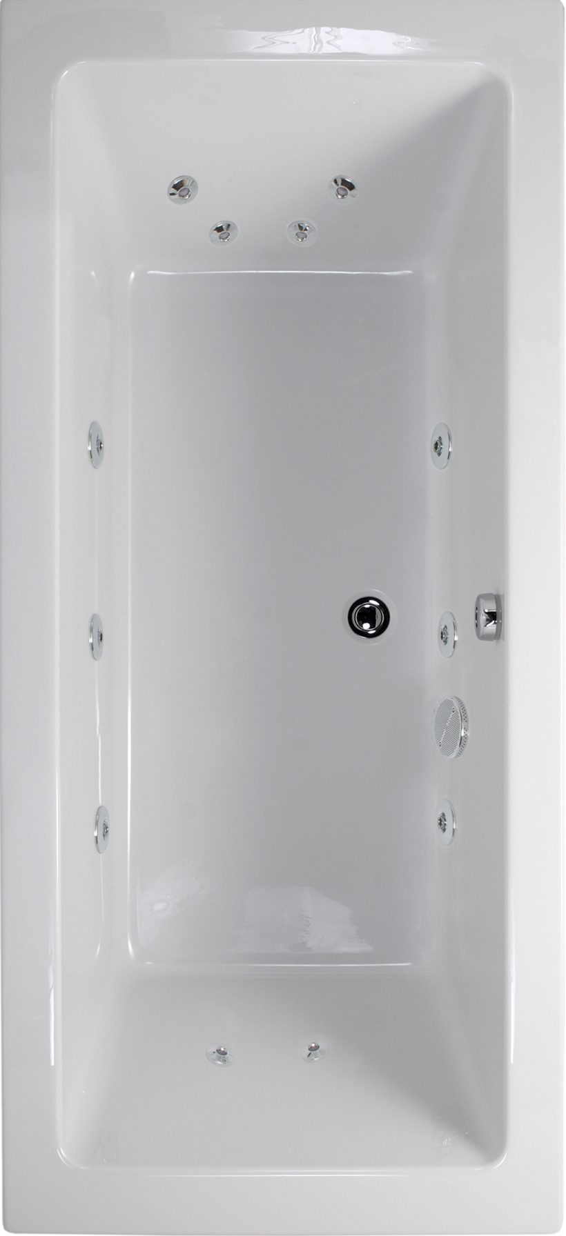 Duo 1900x900 Double Ended 12 Jet Whirlpool Bath - Extra Deep