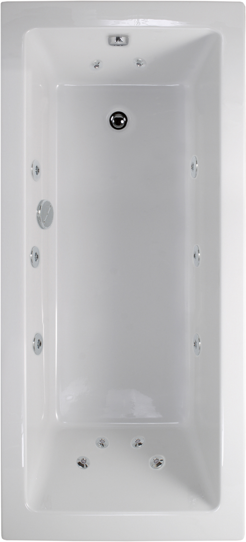 Duo 1700x750 Single Ended 12 Jet Whirlpool Bath - Extra Deep
