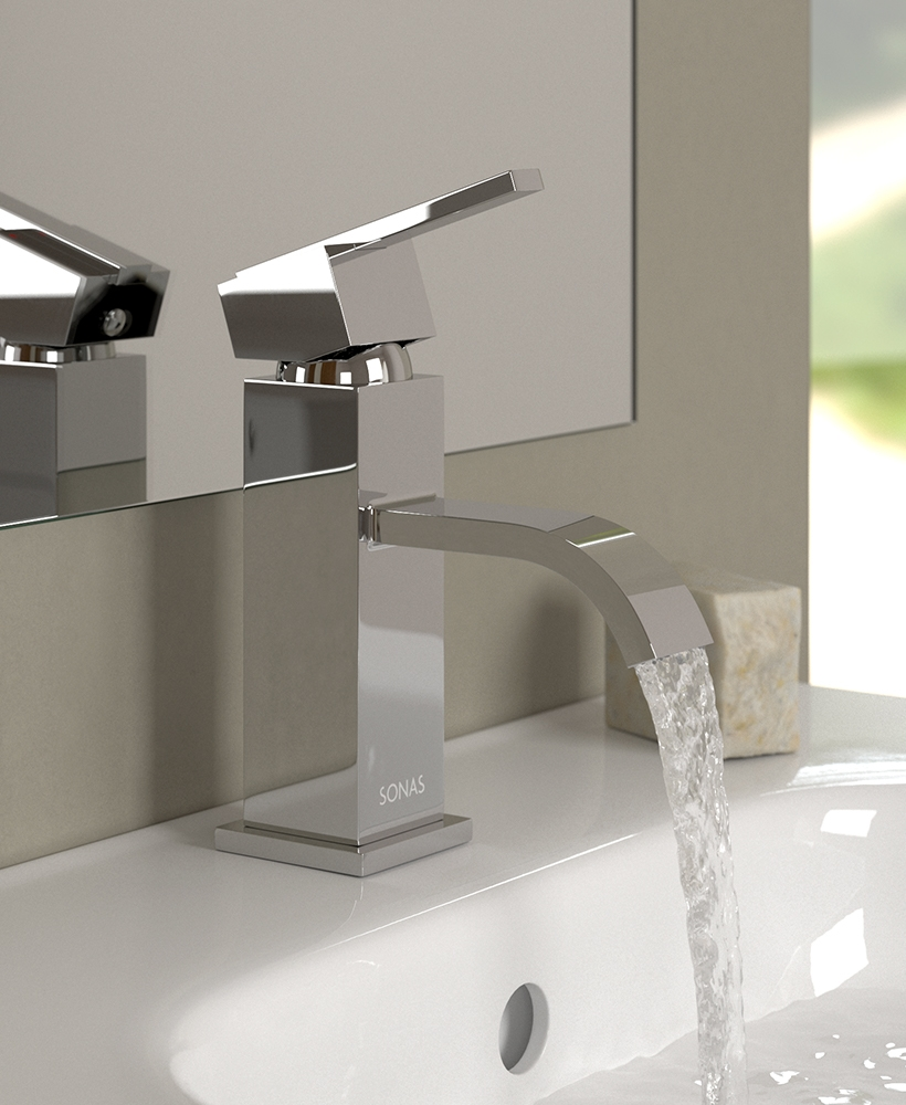 Polly Basin Mixer Tap with FREE Click Clack Basin Waste