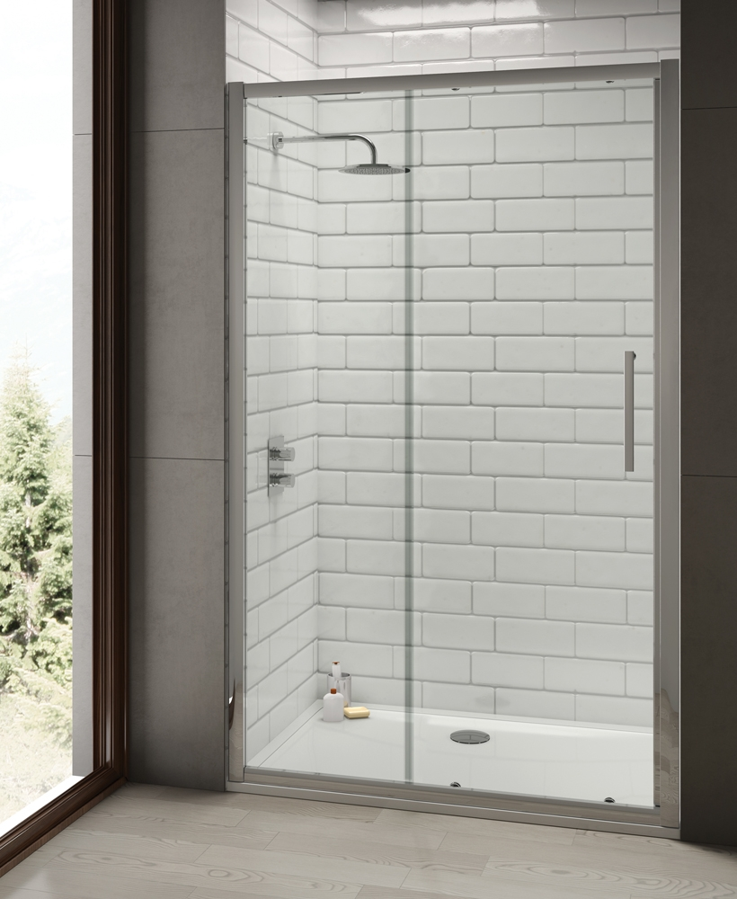 Rival 8mm 1150 Sliding Shower Door - Adjustment 1090-1150 mm