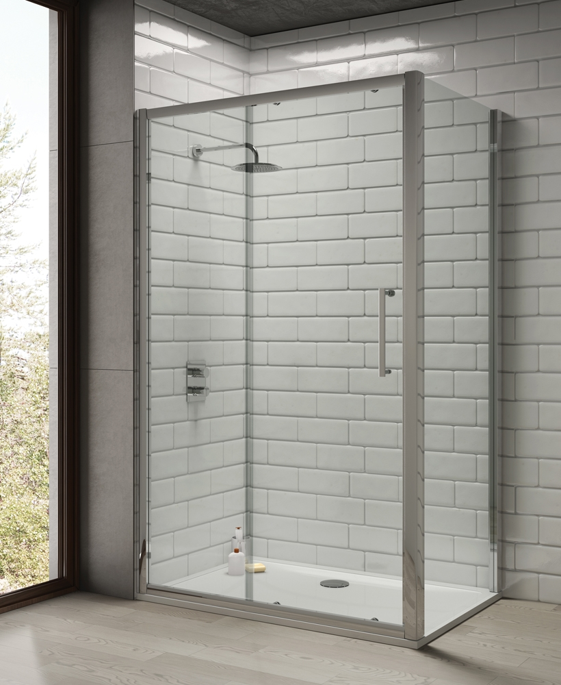 Rival 8mm 1300 Sliding Shower Door - Adjustment 1240-1300 mm