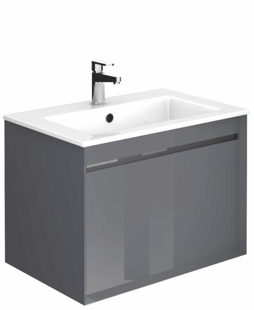Regine Anthracite 55 cm Wall Hung Vanity Unit and Basin
