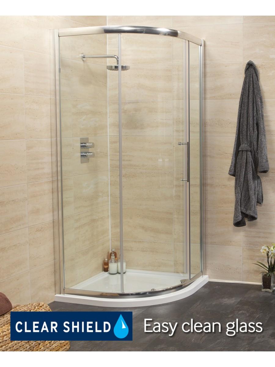Rival 8mm 1000 Quadrant Single Door Shower Enclosure - 950 - 980 mm