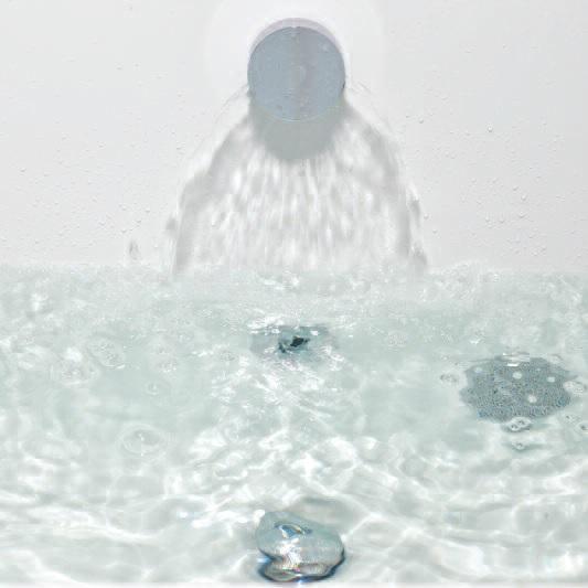 Round Overflow Bath Filler