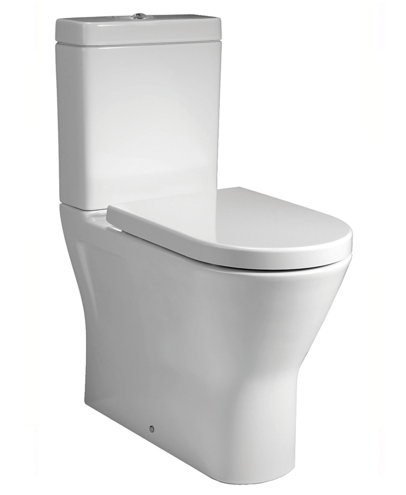 RAK Resort Comfort Height Fully Shrouded Rimless Toilet & Soft Close Seat
