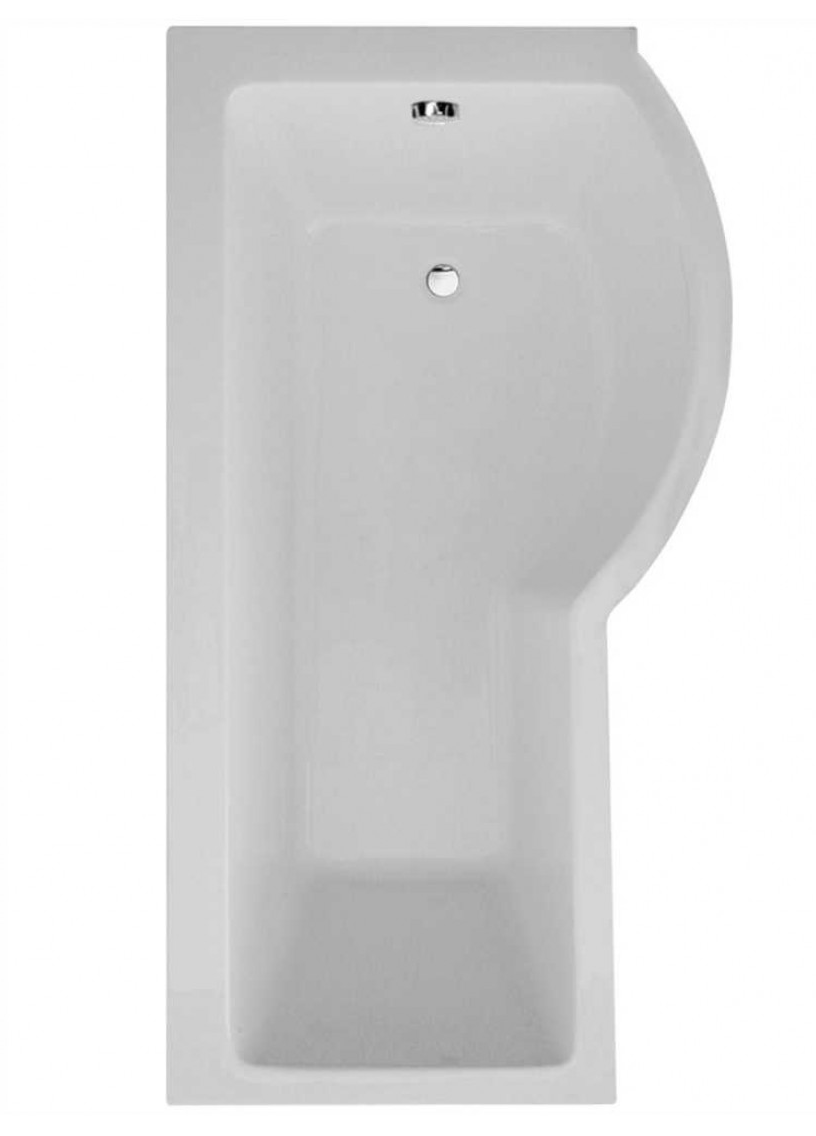 P Shape 1700 x 900 Right Hand Shower Bath with Bath Panel & Bath Screen