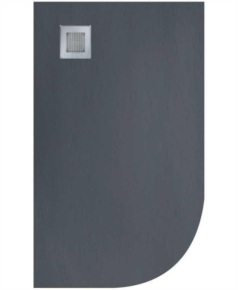 Slate 1200x800 Offset Quadrant Shower Tray LH  Anthracite - Anti Slip