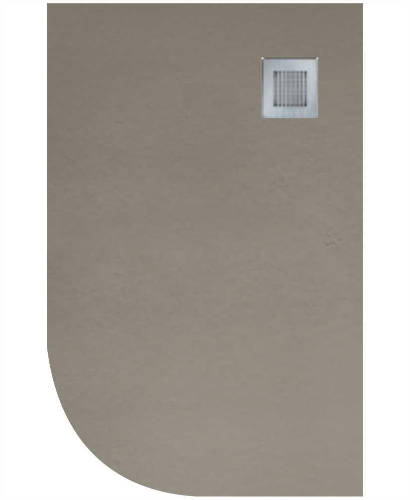 Slate 1200X800 Offset Quadrant Shower Tray RH Taupe - Anti Slip