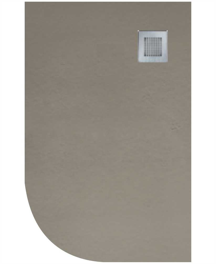 Slate 1200X900 Offset Quadrant Shower Tray RH Taupe - Anti Slip