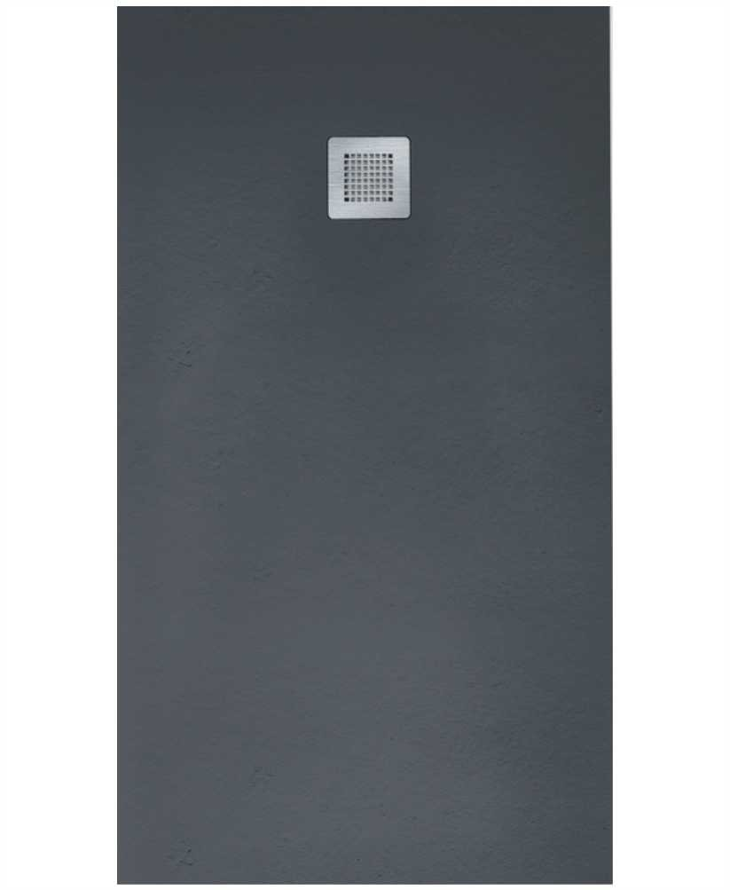 SLATE 1400 x 800 Shower Tray Anthracite - with FREE shower waste