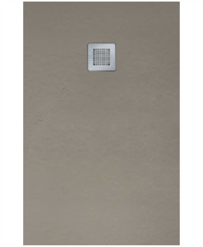 SLATE 1400 x 800 Taupe Shower Tray with FREE Shower Waste