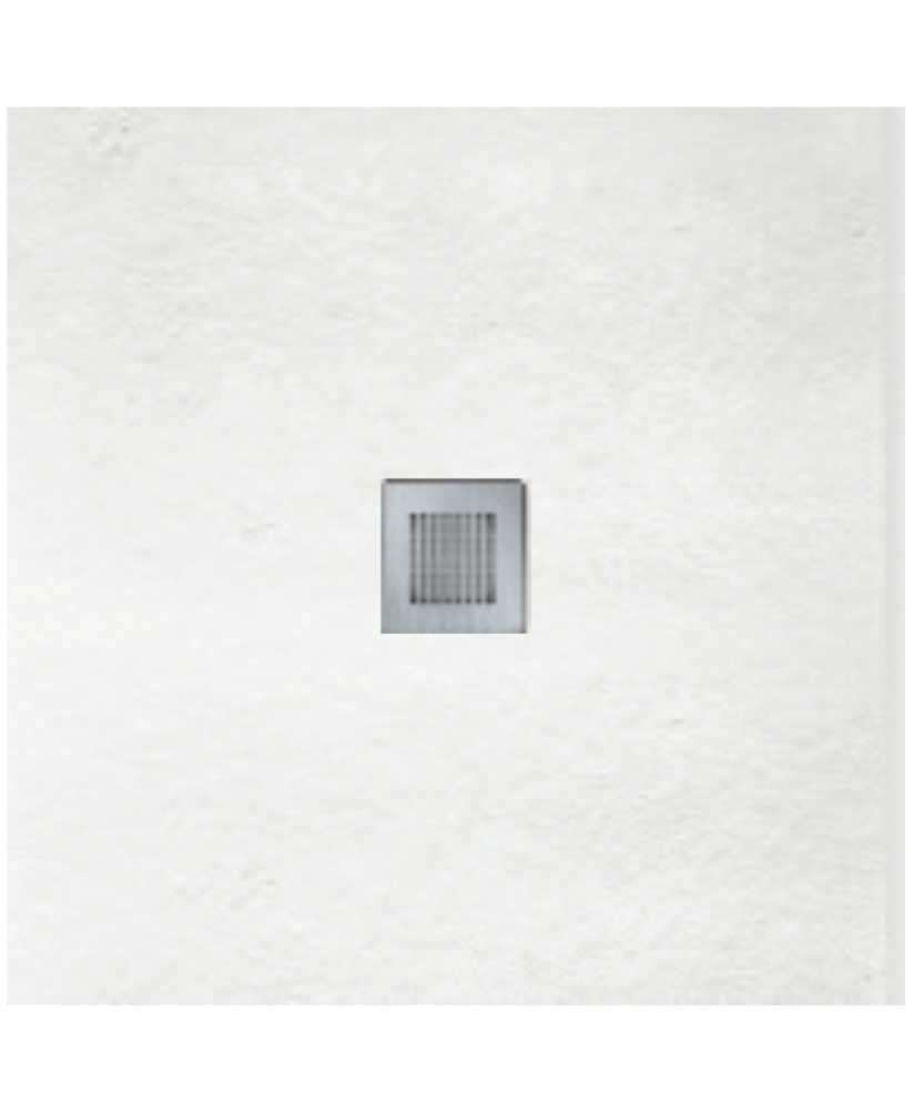 Slate 900 X 900 Shower Tray White - With Free Shower Waste