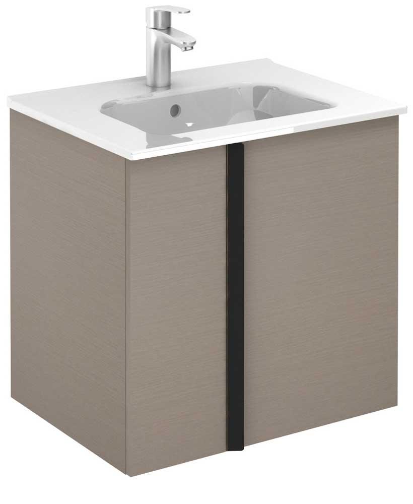 Athena Smokey Grey Wall Hung 60 Vanity Unit and SLIM Basin - 2 Door