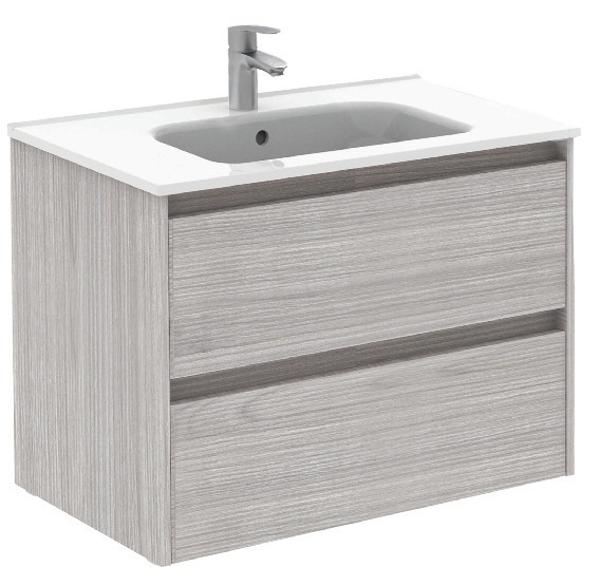 Sparta Sandy Grey 80cm Vanity Unit 2 Drawer & Slim Basin