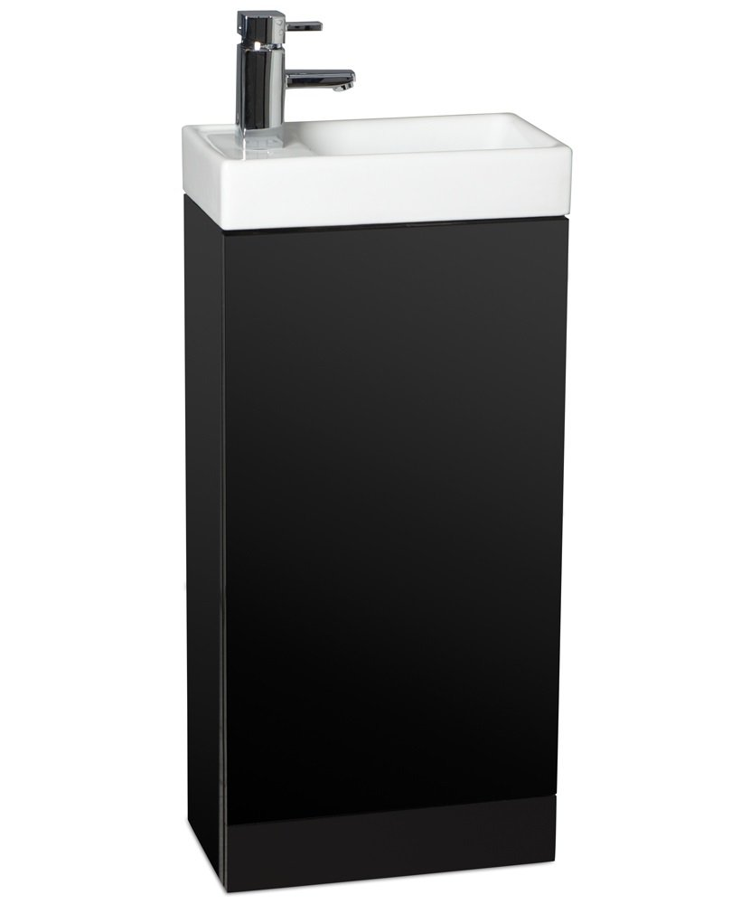 Space 40cm Black Floor Standing Unit ,  Cloakroom Basin & Tap** an extra 10% off with code EASTER10
