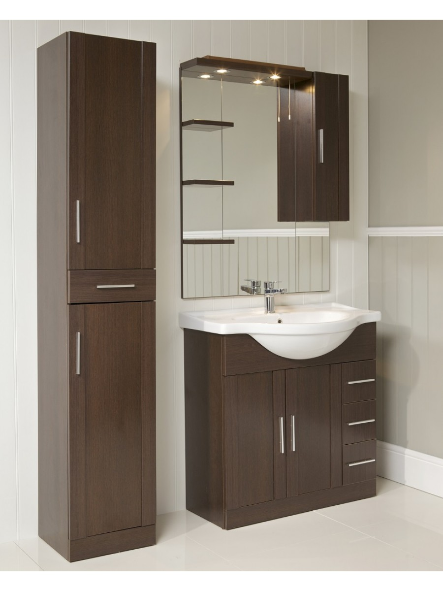 Good **60% Off Cordoba Wenge Furniture Pack   Vanity Unit, Mirror, Tall Unit And  Tap.
