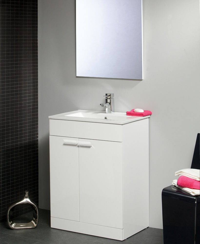Spain 60cm Vanity Unit & Basin With Mirror