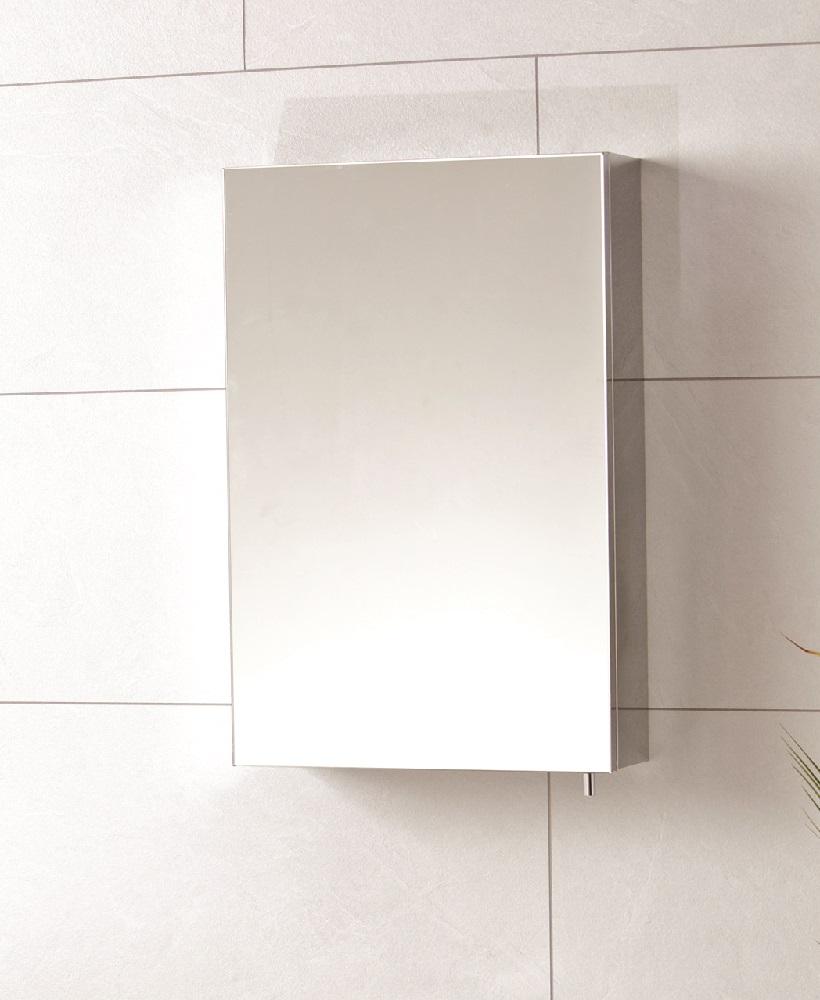 Steel Single Door Mirror Cabinet 400 x 600