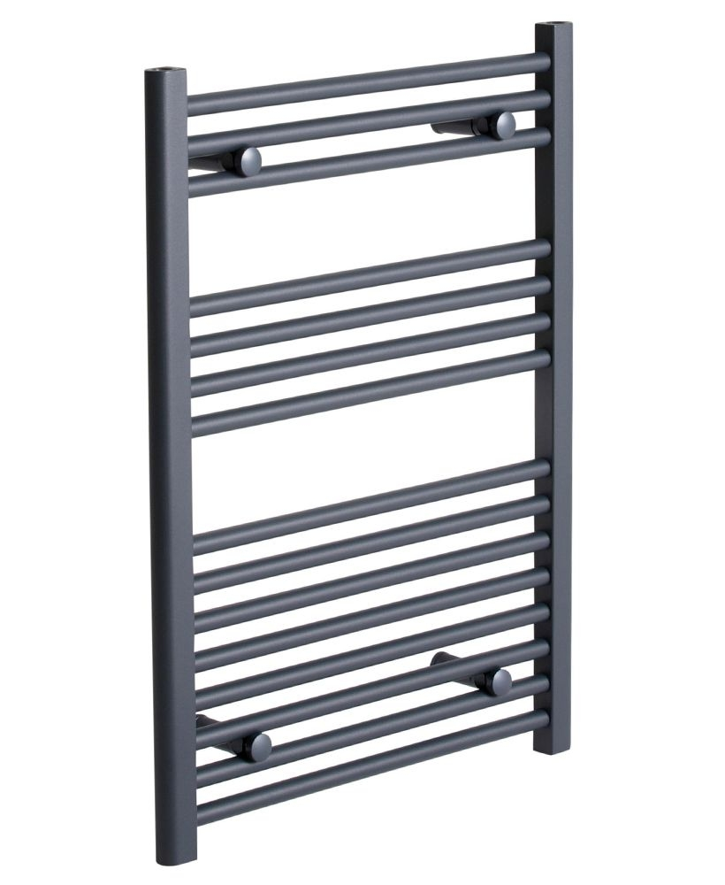 Straight 800 x 500 Heated Towel Rail Anthracite