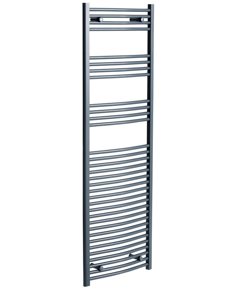 Curved 1800x600 Heated Towel Rail Anthracite