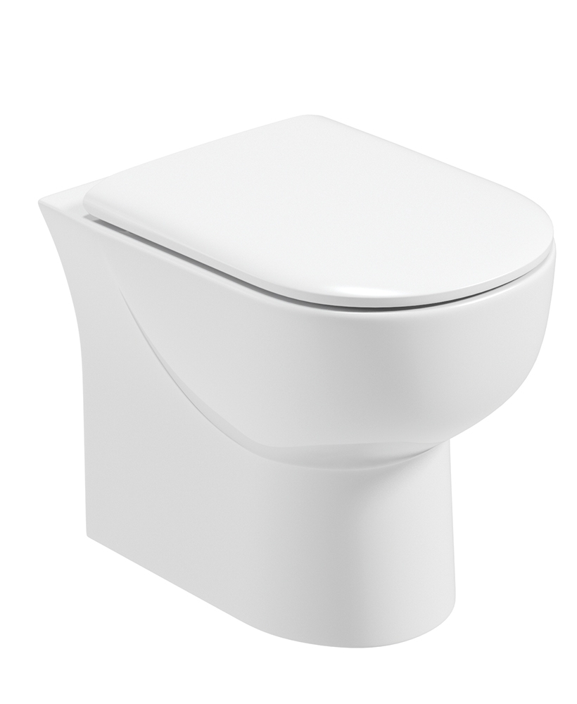 Verona Back to Wall Toilet and Soft Close Seat - RIMLESS