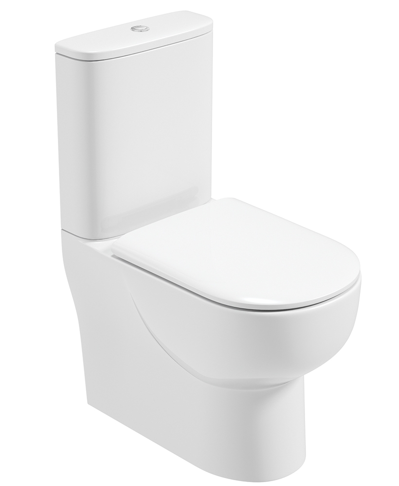 Verona Fully Shrouded Toilet and Soft Close Seat - RIMLESS