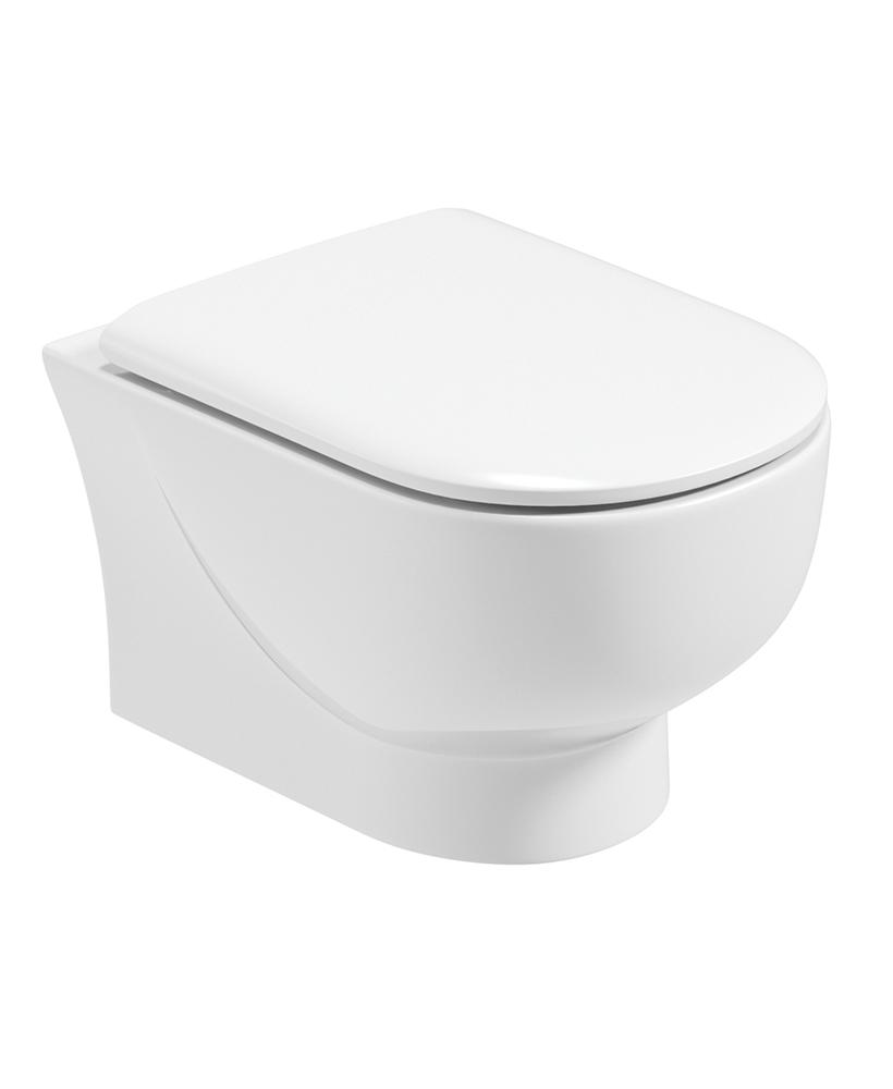 Verona Wall Hung RIMLESS Toilet and Soft Close Seat