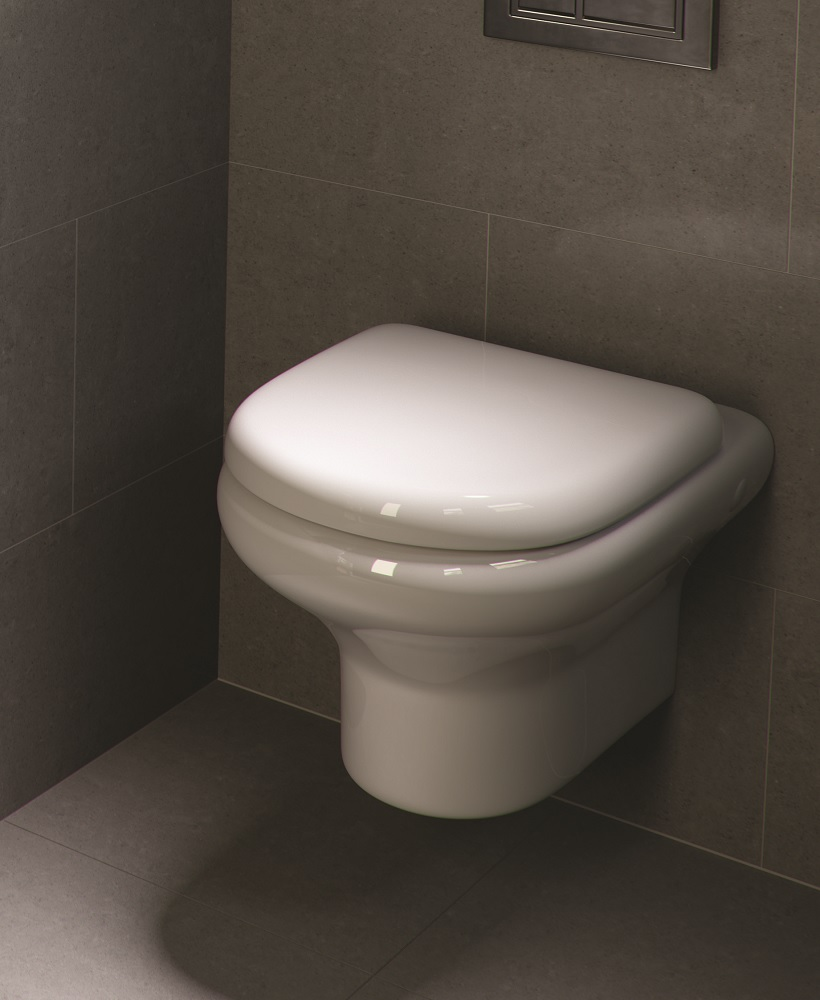 RAK Compact Wall Hung Toilet and Soft Close Seat - ** Over 60% Off **